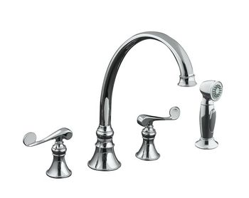 Kohler K-16109-4-CP Revival Kitchen Sink Faucet - Polished Chrome
