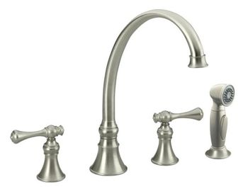 Kohler K-16109-4A-BN Revival Two-Handle Kitchen Faucet - Brushed Nickel