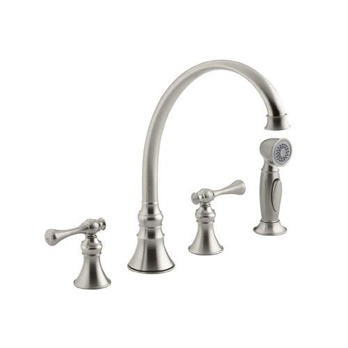 Kohler K 16109 4a Bn Revival Two Handle Kitchen Faucet Brushed Nickel