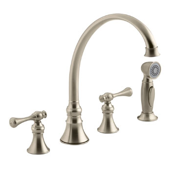 Kohler K-16109-4A-BV Revival Two-Handle Kitchen Faucet - Brushed Bronze