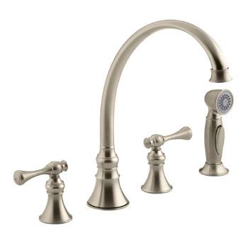 Kohler K-16109-4A-BV Revival Two-Handle Kitchen Faucet - Brushed Bronze