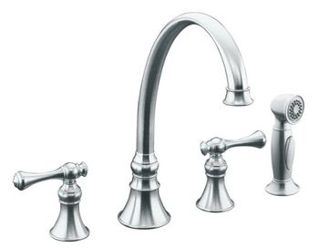 Kohler K-16109-4A-G Revival Kitchen Sink Faucet - Brushed Chrome