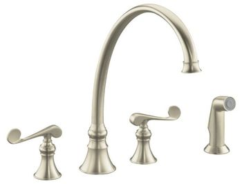 Kohler K-16111-4-BN Revival Two-Handle Kitchen Faucet - Brushed Nickel
