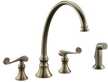 Kohler K-16111-4-BV Revival Two-Handle Kitchen Faucet - Brushed Bronze