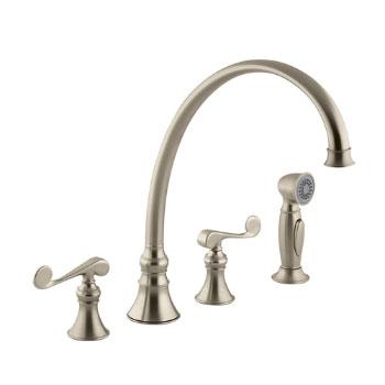 Kohler K-16111-4-BV Revival Two-Handle Kitchen Faucet - Brushed Bronze