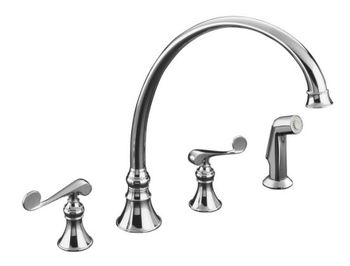 Kohler K-16111-4-CP Revival Two-Handle Kitchen Faucet - Polished Chrome