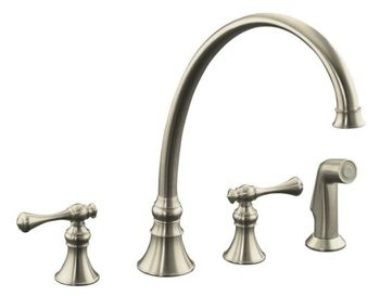 Kohler K-16111-4A-BN Revival Two-Handle Kitchen Faucet - Brushed Nickel