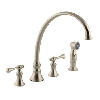 Kohler K-16111-4A-BV Revival Two-Handle Kitchen Faucet - Brushed Bronze