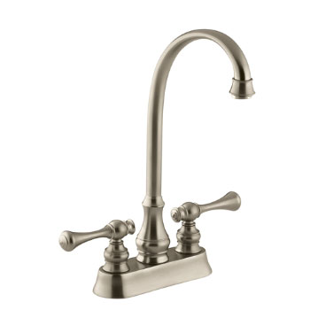 Kohler K-16112-4A-BV Revival Entertainment/Bar Sink Faucet with Traditional Lever Handles - Brushed Bronze