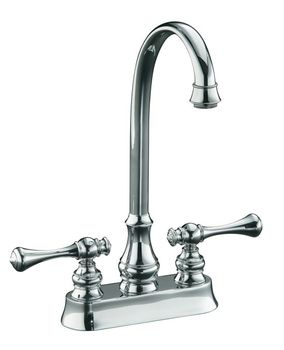 Kohler K-16112-4A-CP Revival Entertainment/Bar Sink Faucet with Traditional Lever Handles - Chrome