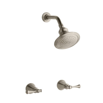 Kohler K-16214-4A-BV Revival Two Handle Shower Faucet with Traditional Lever Handles - Vibrant Brushed Bronze
