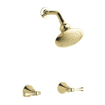 Kohler K-16214-4A-PB Revival Two Handle Shower Only Faucet - Polished Brass