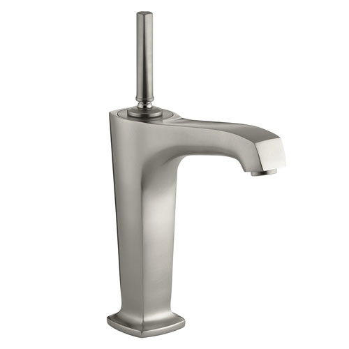 Kohler K-16231-4-BN One Handle Single Control Vessel Lavatory Faucet - Brushed Nickel