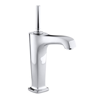 Kohler K-16231-4-CP One Handle Single Control Vessel Lavatory Faucet - Polished Chrome