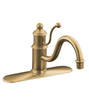 Kohler K-170-BV Antique Single Handle Kitchen Faucet - Vibrant Brushed Bronze