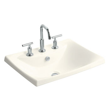Kohler K-19029-8-96 Escale Self-Rimming L avatory With 8