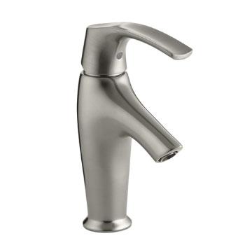 Kohler K-19480-4-BN Symbol Single Handle Lavatory Faucet - Vibrant Brushed Nickel