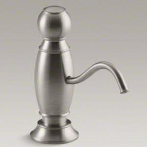 Kohler k 1994 vs soap lotion dispenser with traditional design vibrant stainless - Kohler soap lotion dispenser ...