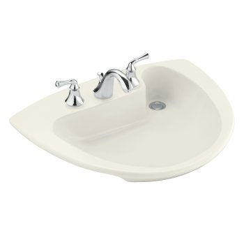 Kohler K-2098-1-96 Invitation Self-Rimming Lavatory with Single-Hole Faucet Drilling - Biscuit