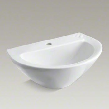 Kohler K-2176-1-0 Parigi Pedestal Top With Single Faucet Hole - White