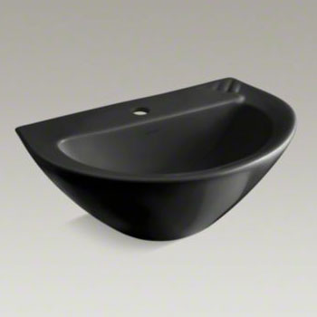 Kohler K-2176-1-7 Parigi Pedestal Top With Single Faucet Hole - Black