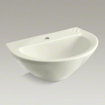 Kohler K-2176-1-96 Parigi Pedestal Top With Single Faucet Hole - Biscuit