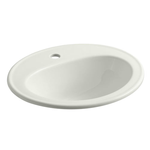 Kohler K-2196-1N-NY Pennington Self-Rimming Lavatory with Single-Hole Faucet Drilling and Sealed Overflow - Dune