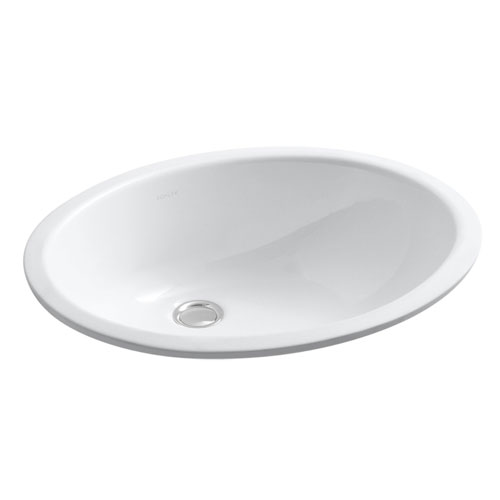 Kohler Lavatory Sink : Kohler K-2210-0 Undercounter Lavatory Sink - White - FaucetDepot.com