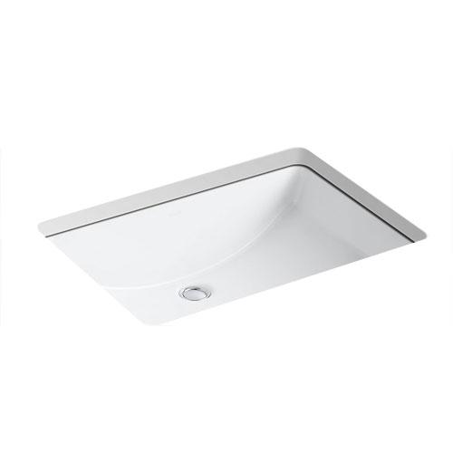 Kohler k 2215 0 ladena undercounter lavatory sink white for Kohler ladena white undermount rectangular bathroom sink with overflow