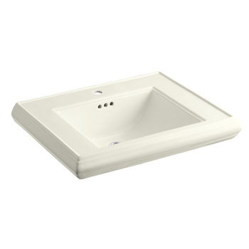 Kohler K-2259-1-96 Memoirs Pedestal Lavatory Basin with Single Faucet Hole - Biscuit