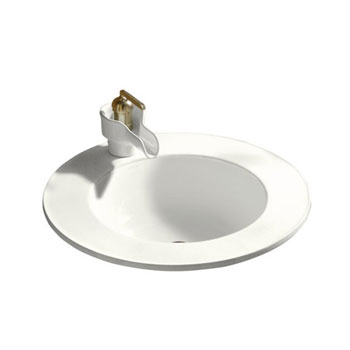 Kohler K-2282-1-0 Camber Self-Rimming Lavatory with Single-Hole Faucet Drilling - White (Faucet Not Included)