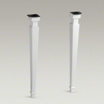 Kohler K-2318-0 Kathryn Square Tapered Fireclay Table Legs - White