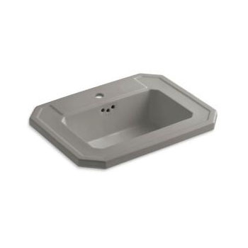 Kohler K-2325-1-K4 Kathryn Drop-in Lavatory Sink with Single Faucet Hole - Cashmere