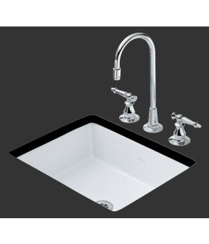 Kohler K-2330-N-96 Kathryn Single Bowl Undercounter Entertainment Sink - Biscuit (Pictured in White)