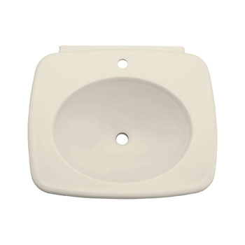 Kohler K-2340-1-47 Bancroft Lavatory Pedestal Basin with Single Faucet Hole - Almond