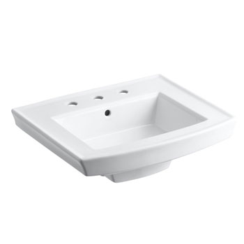 Kohler K-2358-8-0 Archer Pedestal Lavatory Basin with 8