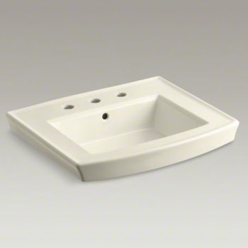 Kohler K-2358-8-47 Archer Pedestal Lavatory Basin with 8