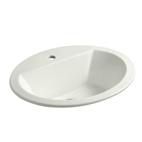 Kohler K-2699-1-NY Bryant Oval Self-Rimming Lavatory Sink with Single Faucet Hole - Dune