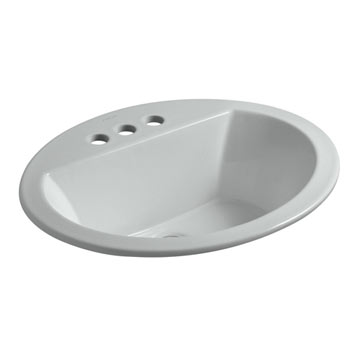 Kohler K-2699-4-95 Bryant Oval Self-Rimming Lavatory Sink with 4
