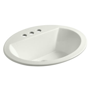 Kohler K-2699-4-NY Bryant Oval Self-Rimming Lavatory Sink with 4