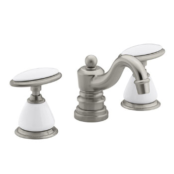 Kohler K-280-9B-BN Antique Widespread Lavatory Faucet - Brushed Nickel