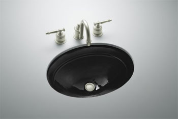 Kohler K-2824-7 Serif Undercounter Lavatory - Black (Faucet Not Included)
