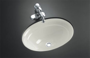 K-2824-95 Kohler Serif Undercounter Lavatory - Ice Grey (Faucet Not Included)