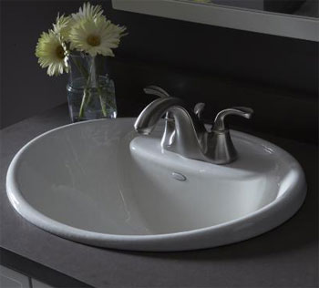 Kohler K-2839-4-0 Tides Lavatory Sink with 4