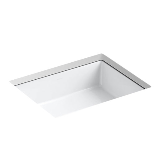 Kohler K 2882 0 Verticyl Rectangle Undercounter Lavatory Sink White Faucetdepot Com