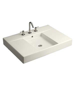 Kohler K-2955-1-0 Traverse Tob and Basin Mount Lavatory - White