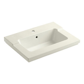Kohler K-2979-1-96 Tresham One-Piece Surface and Integrated Lavatory with Single-Hole Faucet Drilling - Biscuit