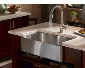 Kohler K-3086 Verity Apron Front Undermount Single Bowl Stainless Steel Kitchen Sink