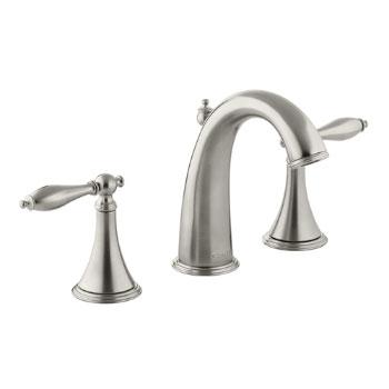 Kohler K-310-4M-BN Finial Traditional Widespread Lavatory Faucet - Brushed Nickel
