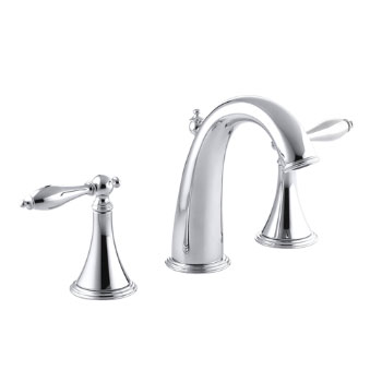 Kohler K-310-4M-CP Finial Traditional Widespread Lavatory Faucet With Lever Handles - Chrome